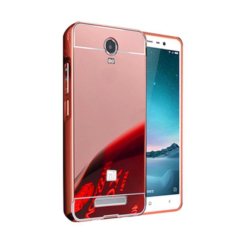 Bumper Case Mirror Sliding Casing for Xiaomi Redmi Note 2 - Rose Gold