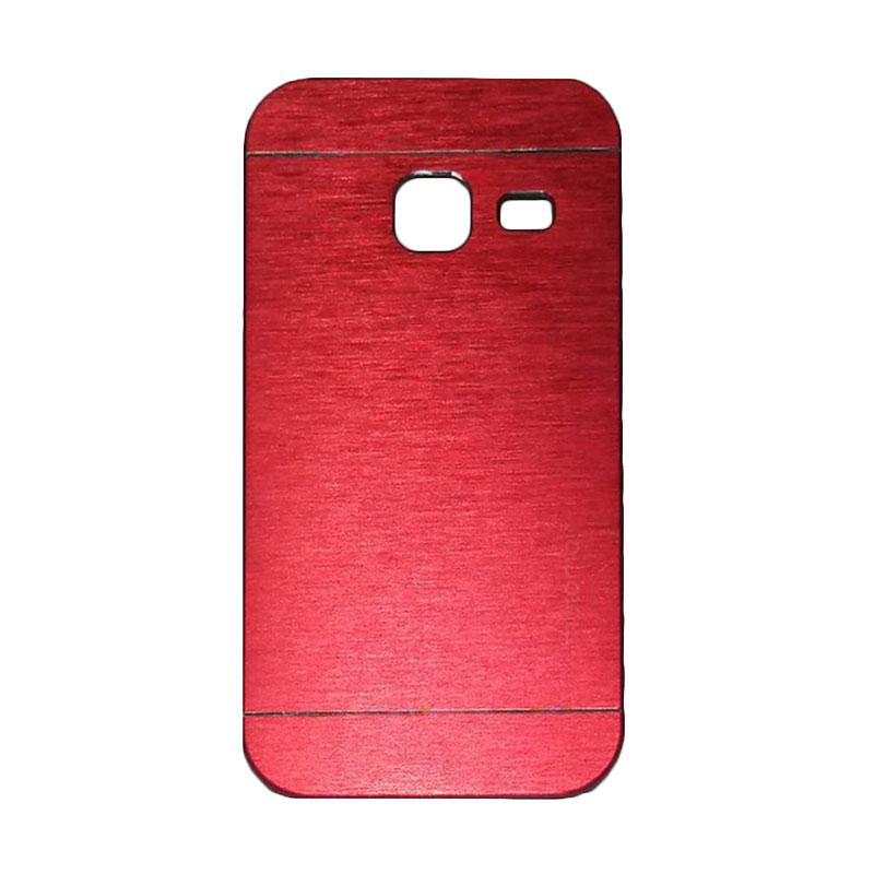 Motomo Metal Hardcase Backcase Casing for Samsung Galaxy J1 Mini or J103 - Red