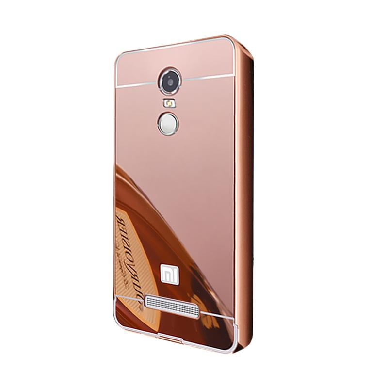 Bumper Case Mirror Sliding Casing for Xiaomi Redmi Note 3 - Rose Gold