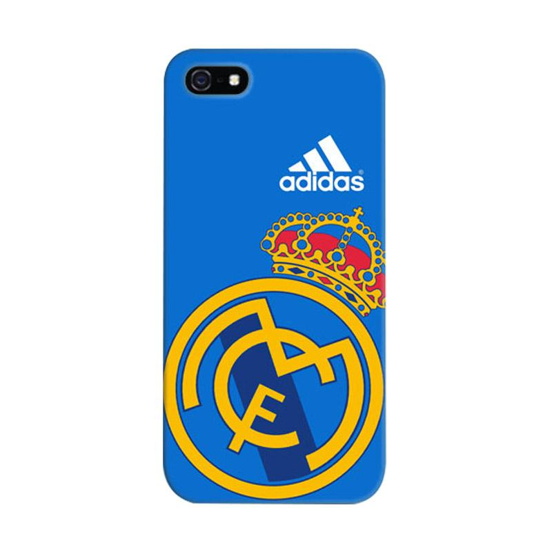 Indocustomcase Real Madrid Logo 06 Cover Casing for iPhone 5/5S/SE