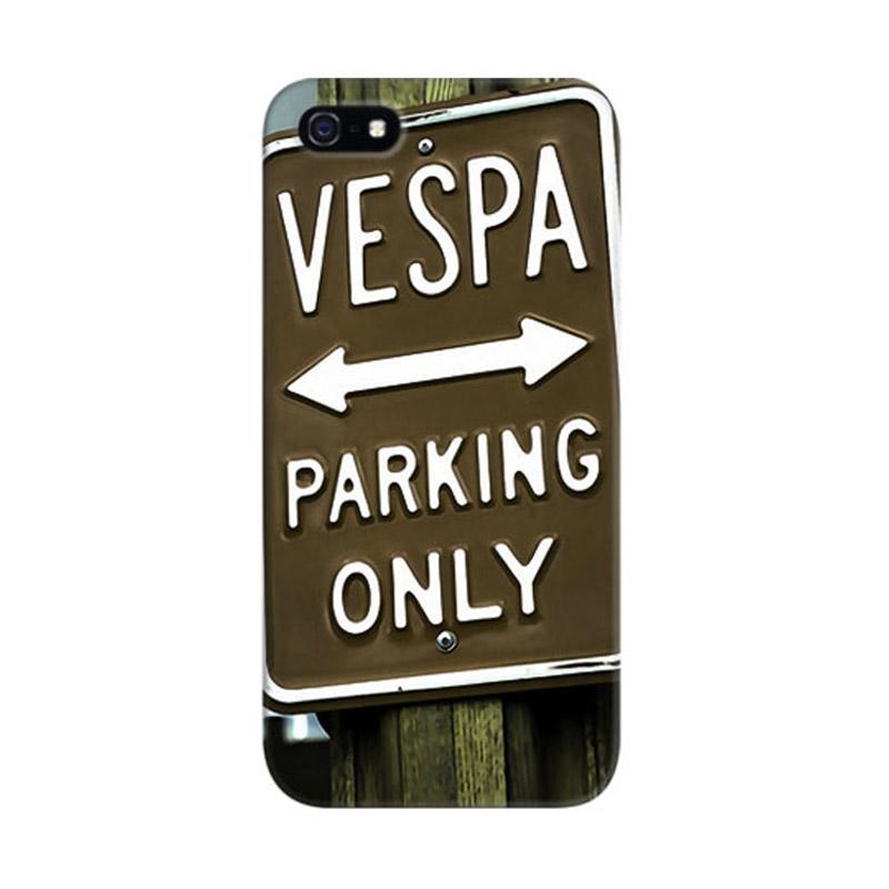 Indocustomcase Vespa Parking Poster Custom Hardcase Casing for iPhone 5/5S/SE