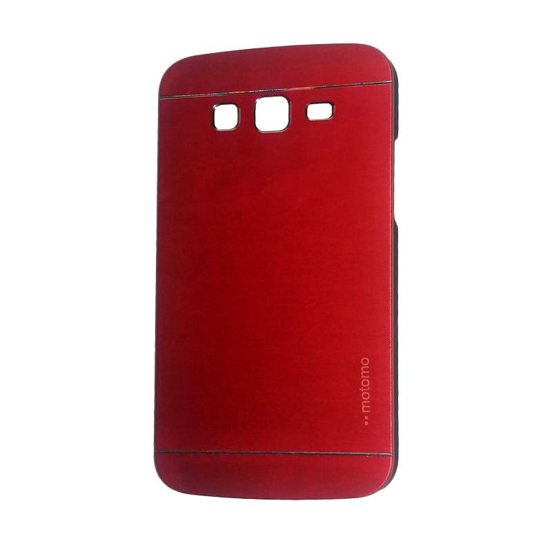 Motomo Metal Hardcase Backcase Casing for Samsung Galaxy Grand or I9082 - Red