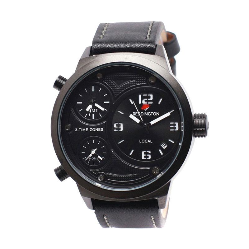 Reddington D49H350RD3032MHTMP Triple Time Leather Strap Jam Tangan Pria