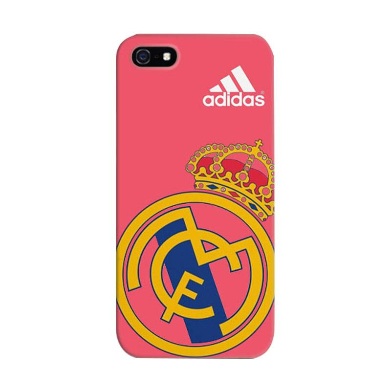 Indocustomcase Real Madrid Logo 07 Cover Casing for iPhone 5/5S/SE