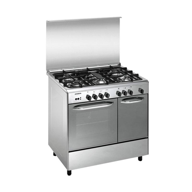 Modena FC3952 Kompor with Oven Freestanding [5 Tungku/ 90 cm/ Stainless Steel] [Kab.Bandung]