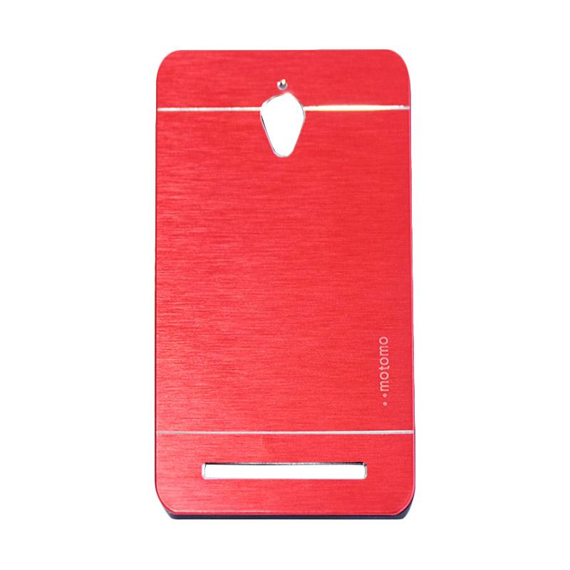 Motomo Metal Hardcase Backcase Casing for Asus Zenfone Go ZC500TG 5.0 Inch - Red