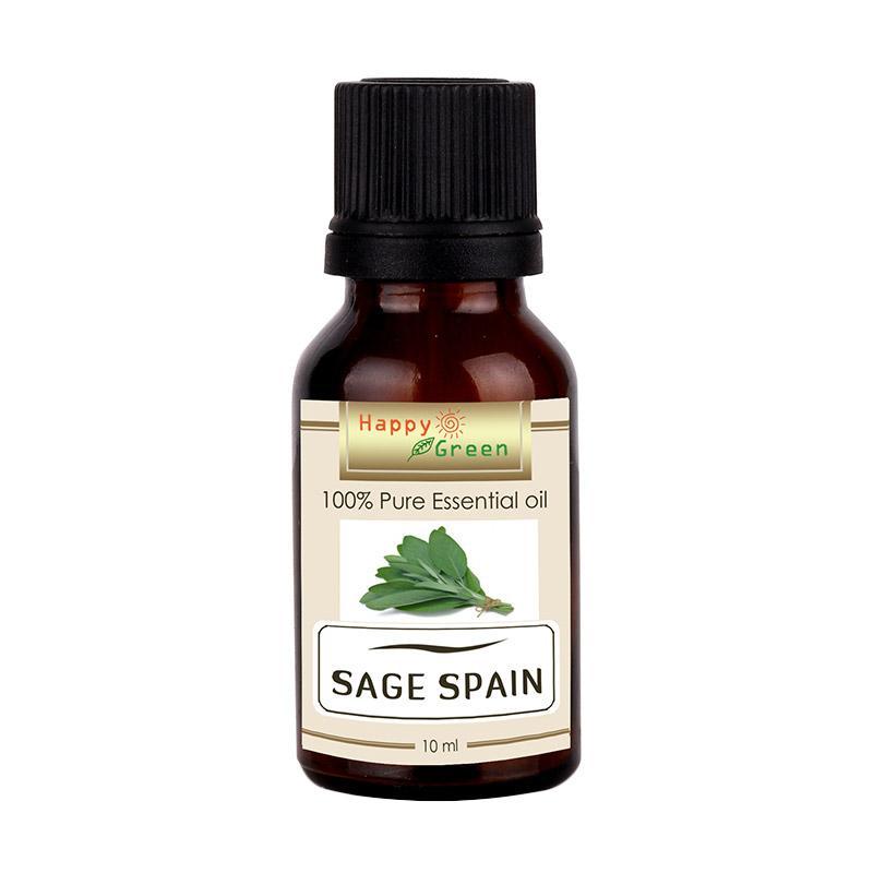 Happy Green Sage Spain Minyak Sage Pure & Natural Essential Oil [10 mL]