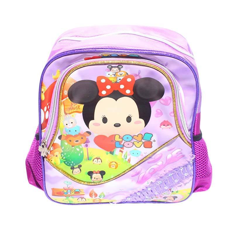 Istana Kado IKO00279 Mini Ransel PP6 S Tsum Tsum Tas Sekolah Anak - Ungu