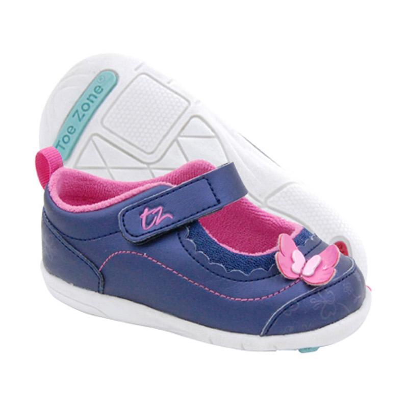 Toezone Kids Tracey Fs Flora Sepatu Anak Perempuan - Navy Pink