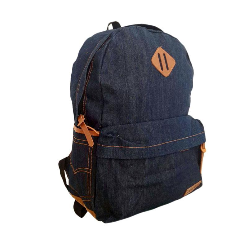 Best Seller Bag And Stuff Denim Respect Denim Jeans Tas Ransel Pria - Navy