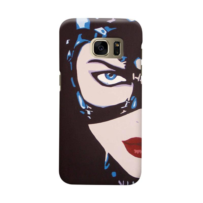 Indocustomcase Cat Woman Cover Casing for Samsung Galaxy S7