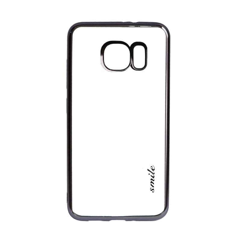 SMILE Ultra Thin Shining List Chrome Casing for Samsung Galaxy S7 - Black