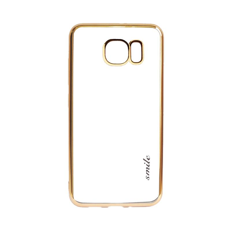 SMILE Ultra Thin Shining List Chrome Casing for Samsung Galaxy S7 - Gold