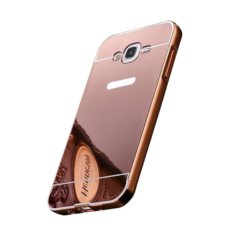 Bumper Case Mirror Sliding Casing for Samsung Galaxy ACE 4 - Rose Gold