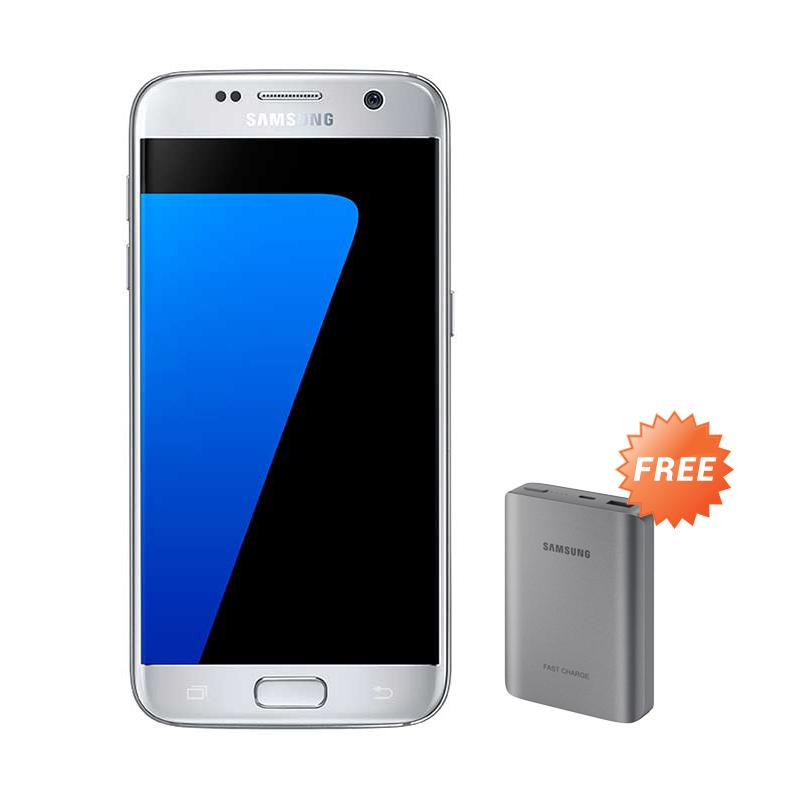 Samsung Galaxy S7 SM-G930 Smartphone - Silver [32GB/ 4GB] + Free Battery Pack 10200 mAh