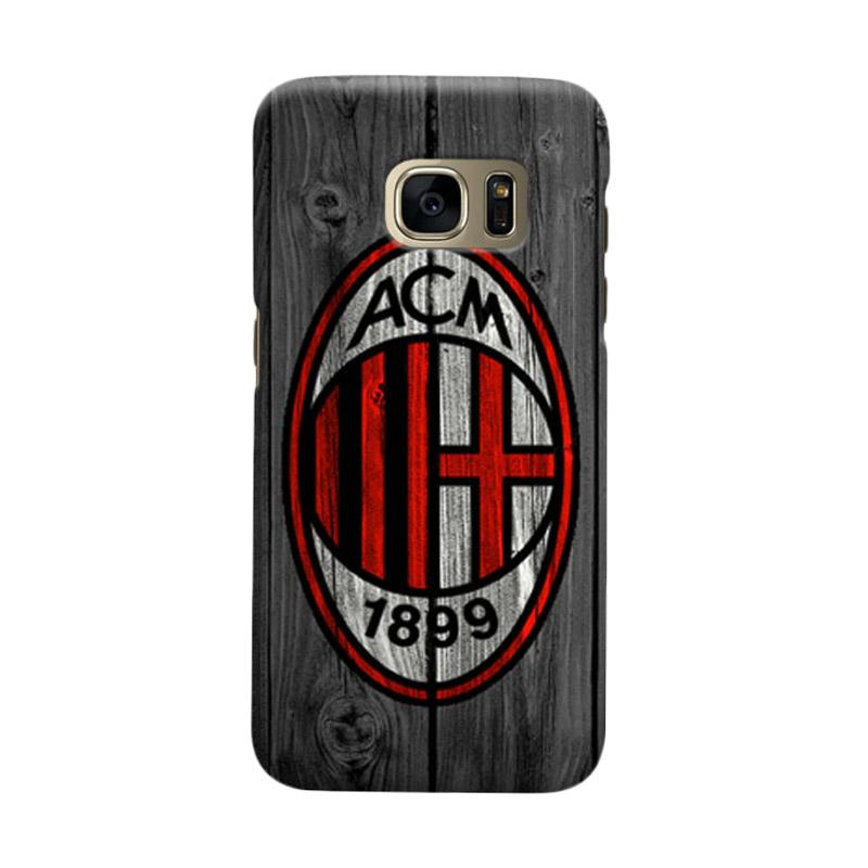 Indocustomcase AC Milan ACM04 Cover Casing for Samsung Galaxy S6