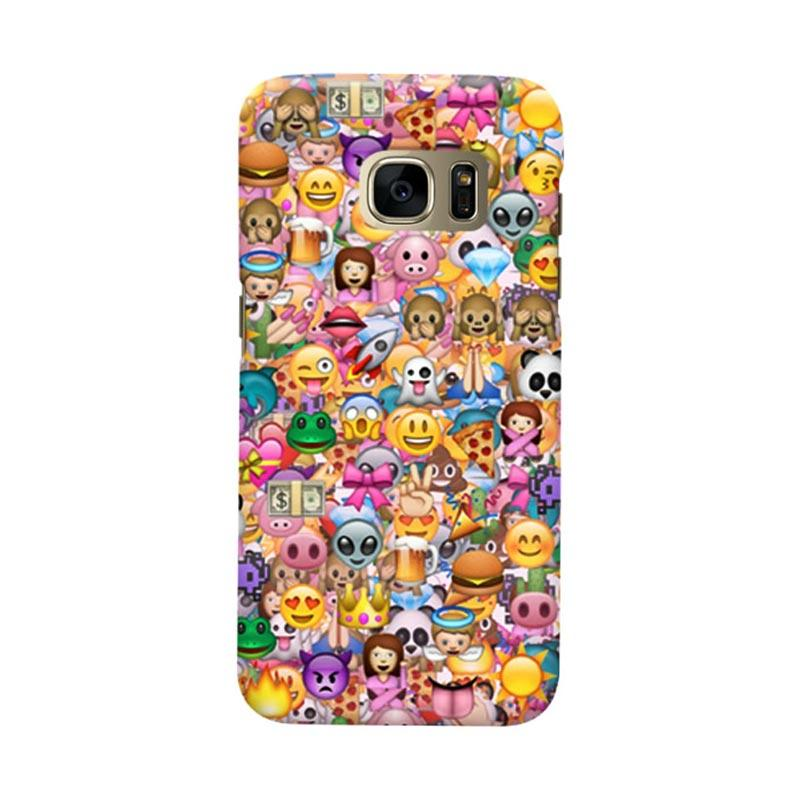 Indocustomcase Emoticon Cover Casing for Samsung Galaxy S7
