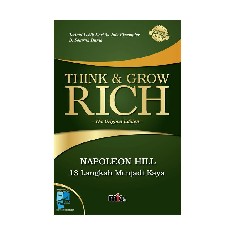 MIC Publishing Think & Grow Rich Buku Manajemen by Napoleon Hill