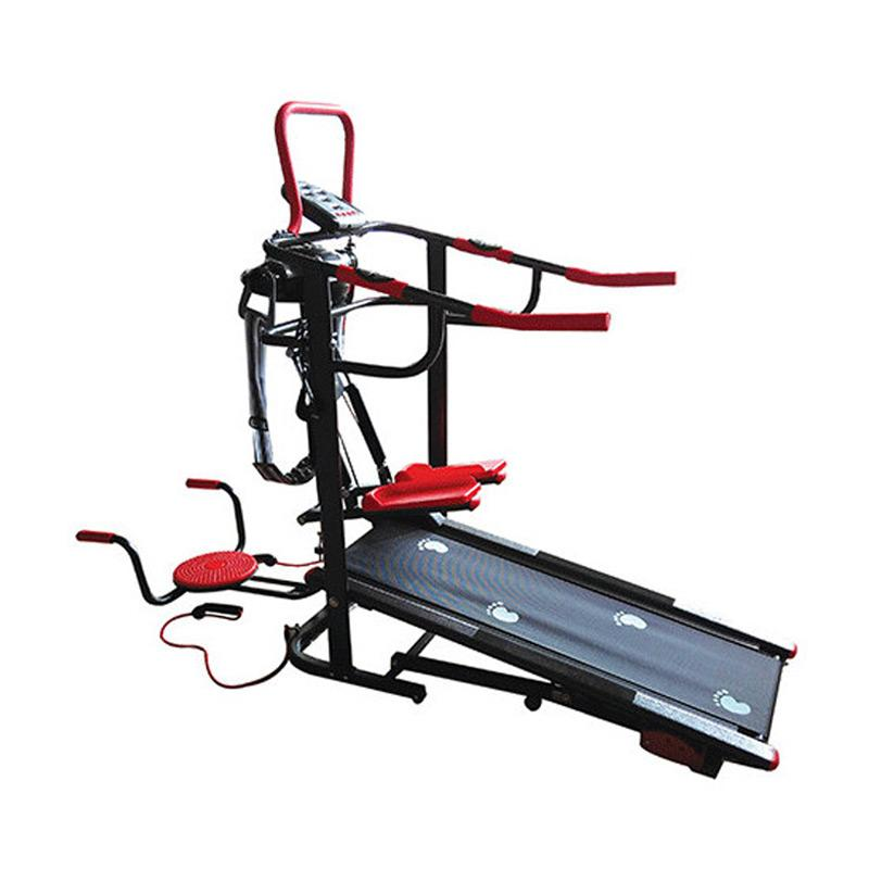 Total Fitness TL 004 AG Treadmill Manual dengan 6 Fungsi - Hitam Merah