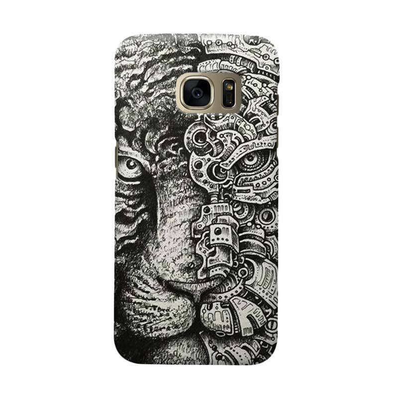 Indocustomcase Tiger Cover Casing for Samsung Galaxy S6