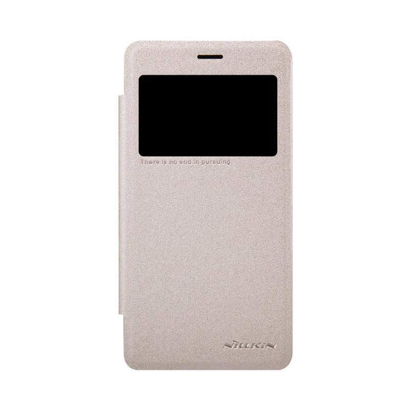 Nillkin Original Sparkle Flip Cover Casing for Xiaomi Redmi 2 - Gold