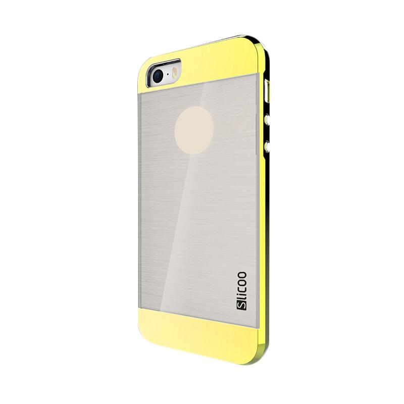 Slicoo Clear Back Side Cover Hardcase Casing for Apple Iphone 6 Plus - Kuning