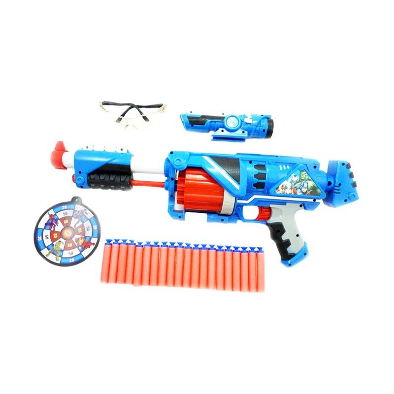 harga TSH Model Peluru Nerf Avenger Hero Captain Big Box Set Mainan Pistol - Biru Blibli.com