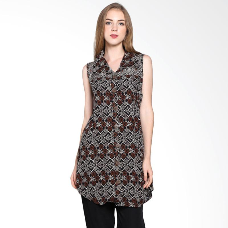 Batik Pria Tampan Women Wdrtl-04081616p-Teak Soga Sleeveless Dress