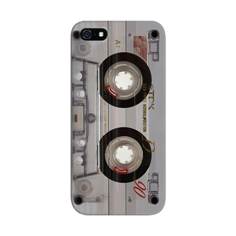 Indocustomcase Transparent Cassette Custom Hardcase Casing for Apple iPhone 5/5S/SE