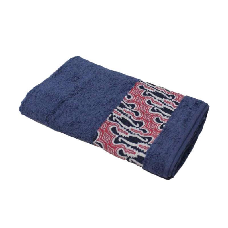 harga Terry Palmer Premium Motif Batik Barong Handuk Mandi - Biru [70 x 140 cm] Blibli.com