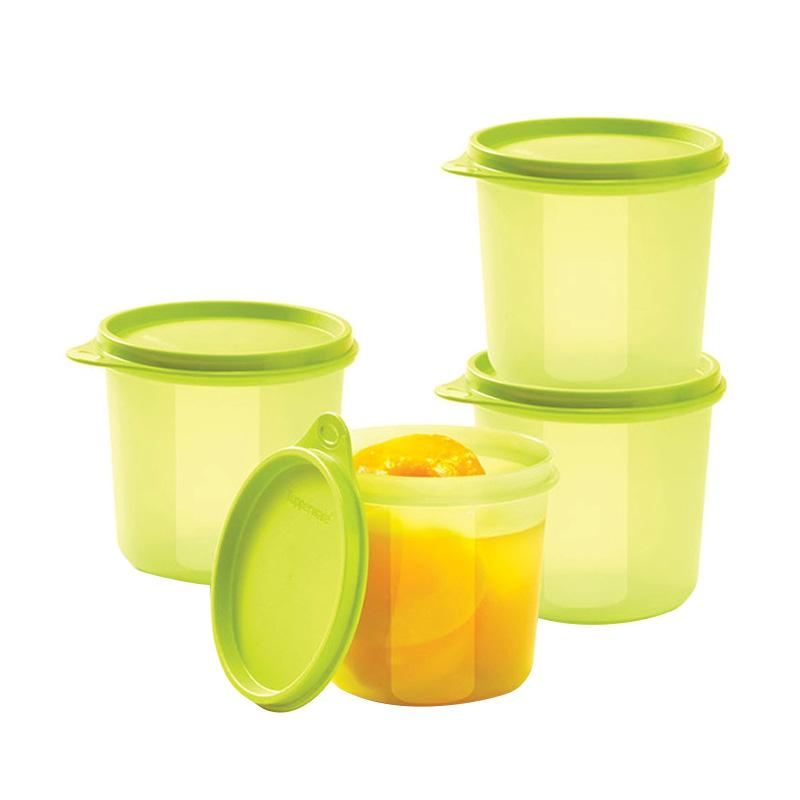 Tupperware High Compact Bowl Set Penyimpanan Makanan - Hijau [4 pcs]