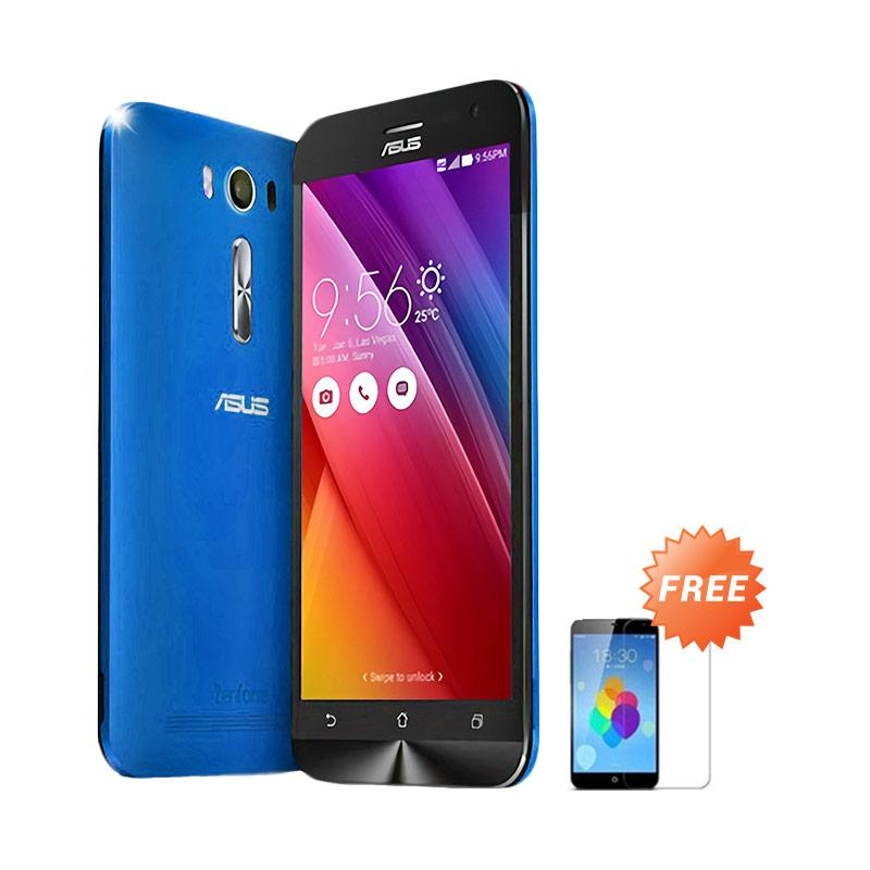 Ultrathin Aircase Casing for Asus Zenfone 2 ZE500KL - Blue Clear + Free Tempered Glass