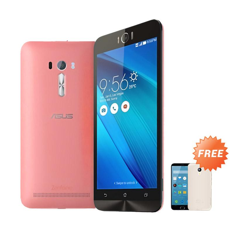 Ultrathin Aircase Casing for Zenfone Selfie 2D551KL + Free Ultra Thin - Red Clear