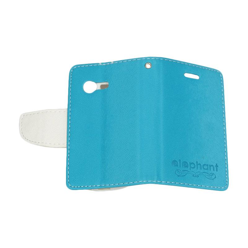 Elephant Flipcover Casing for Samsung Galaxy Pocket Neo s5310 or s5312 - Blue