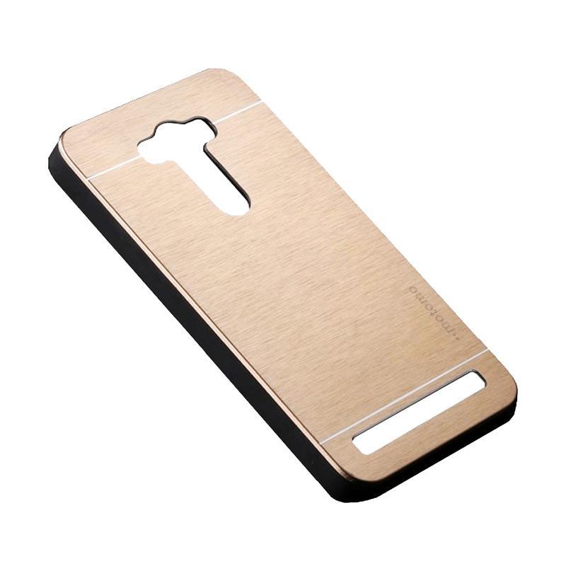 Motomo Metal Hardcase Backcase Casing for Asus Zenfone Selfie ZD551KL - Gold