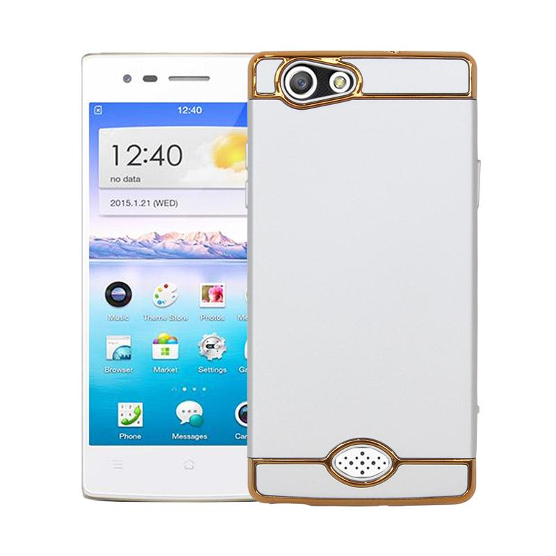OEM 3in1 Plated PC Frame Bumper with Frosted Hardcase Casing for OPPO A31 or NEO 5 - Silver