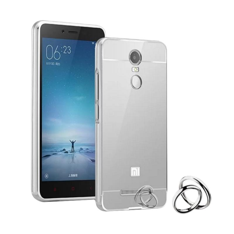 OEM Luxury Bumper Metal Sliding Backcase Casing for Xiaomi Redmi 3S - Silver