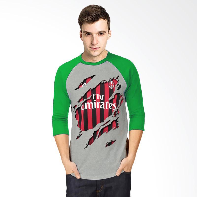 harga T-Shirt Glory Kaos 3D Ac Milan Jersey Raglan Atasan Pria - Abu Hijau Blibli.com