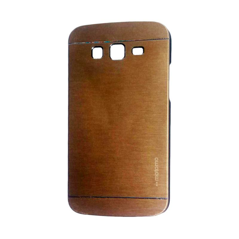 Motomo Metal Hardcase Backcase Casing for Samsung Galaxy Grand 2 or G7106 - Gold