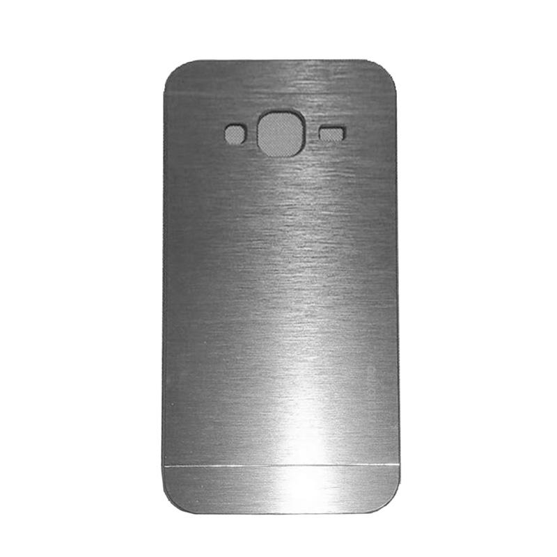 Motomo Metal Hardcase Backcase Casing for Samsung Galaxy J3 2016 or J320 - Silver