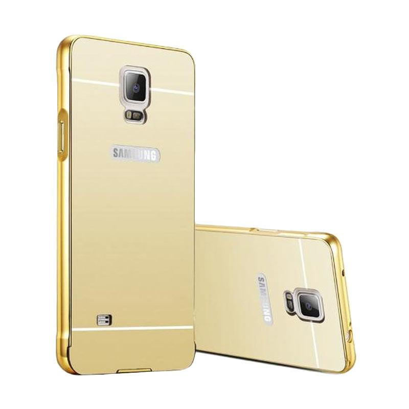 OEM Luxury Bumper Metal Sliding Backcase Casing for Samsung Galaxy S5 - Gold