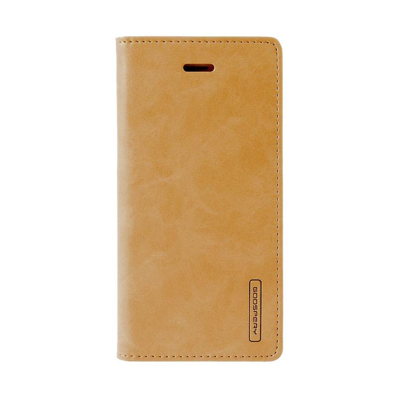 Goospery Mercury Bluemoon Flip Cover Casing for iPhone 7 4.7 inch - Gold
