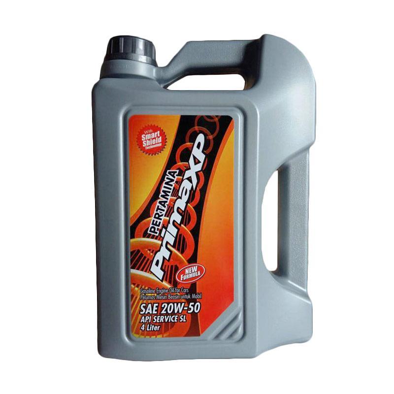 pertamina pertamina prima xp sae 20w   50 api sl oli pelumas mesin mobil galon  4 liter  full03