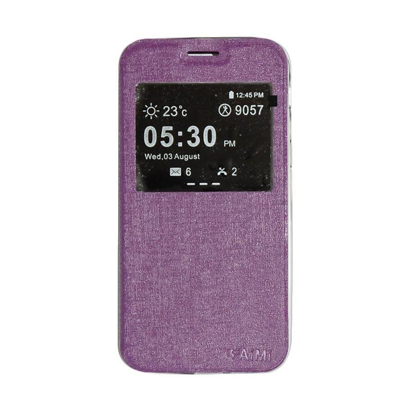 AIMI Flipshell Flip Cover Casing for Samsung Galaxy A520 or A5 2017 - Purple