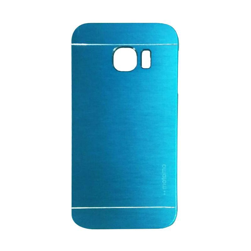Motomo Metal Hardcase Backcase Casing for Samsung Galaxy S6 Edge  - Sky Blue