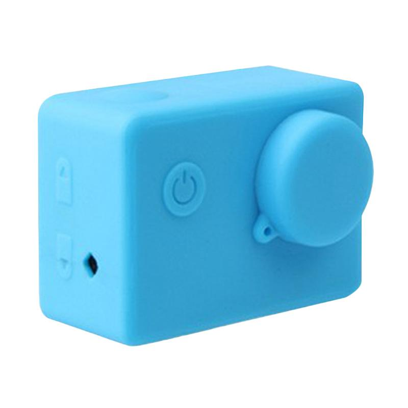Brica Silicone Case and Lens Cap for Action Camera Brica B-PRO Alpha Edition AE2 - Biru