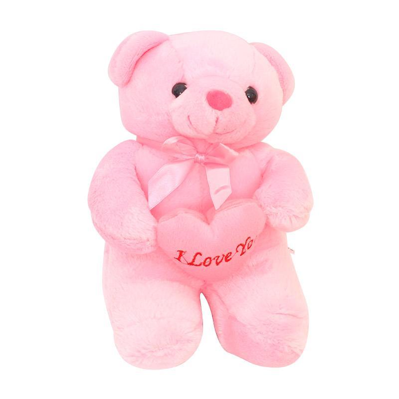 harga Rekomendasi Seller - Istana Kado IKO00681 Little Teddy Bear Love Valentine Boneka Beruang [10 inch] - Pink Blibli.com