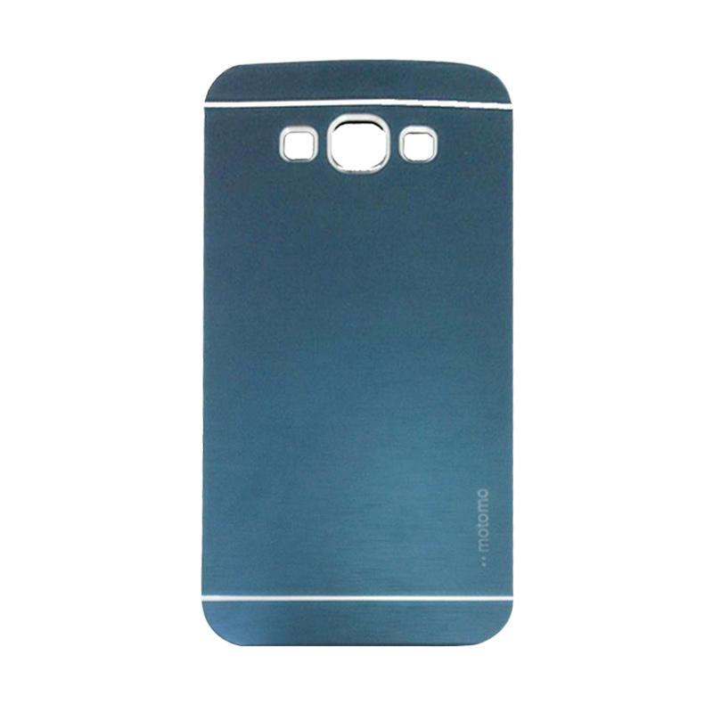 Motomo Metal Hardcase Backcase Casing for Samsung Galaxy A8 or A800F - Dark Blue