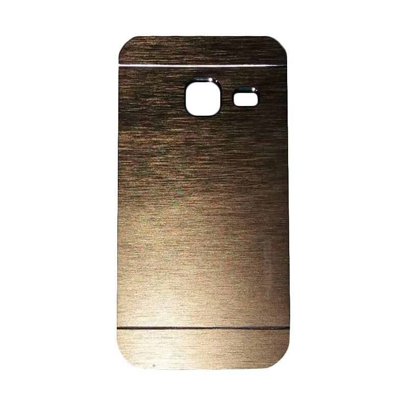 Motomo Metal Hardcase Backcase Casing for Samsung Galaxy J1 Mini or J103 - Gold