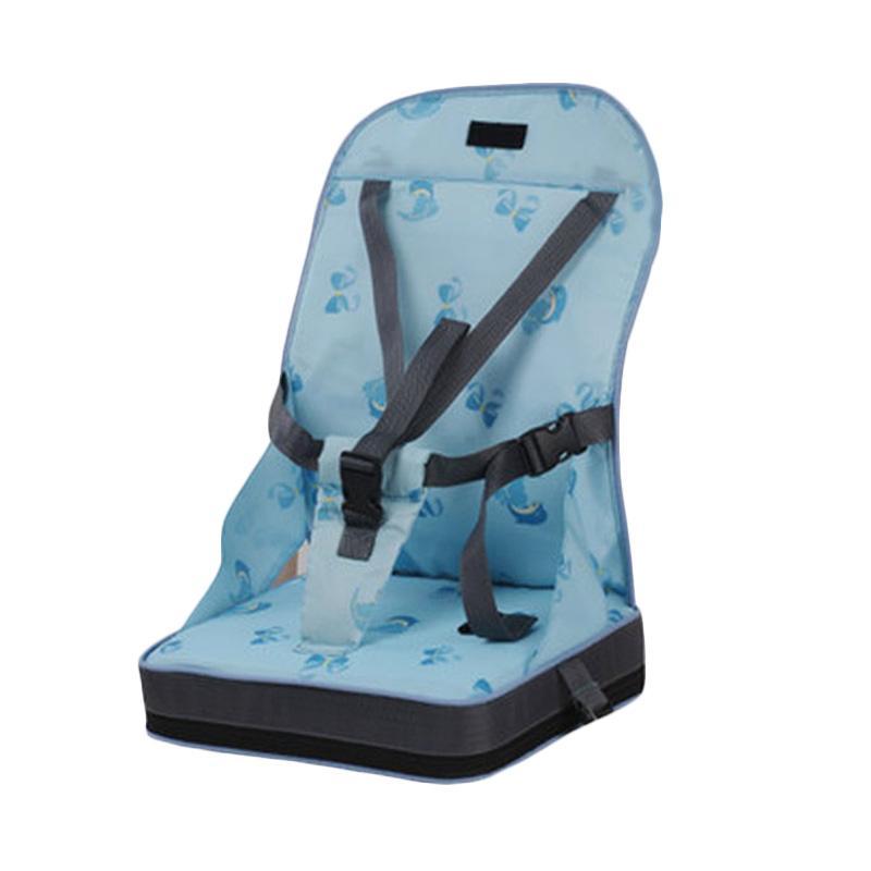 harga Mummyyani Portable Booster Travel High Chair / Kursi Makan Bayi Portable - Blue Blibli.com